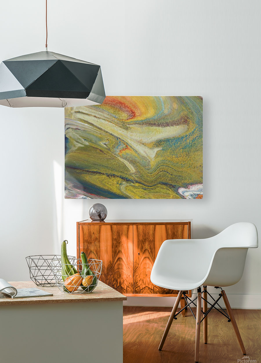Rainbow Tornado  HD Metal print with Floating Frame on Back