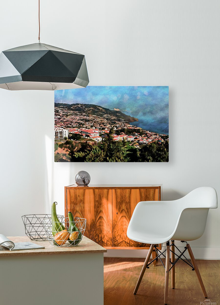 Funchal View Madeira 2  HD Metal print with Floating Frame on Back