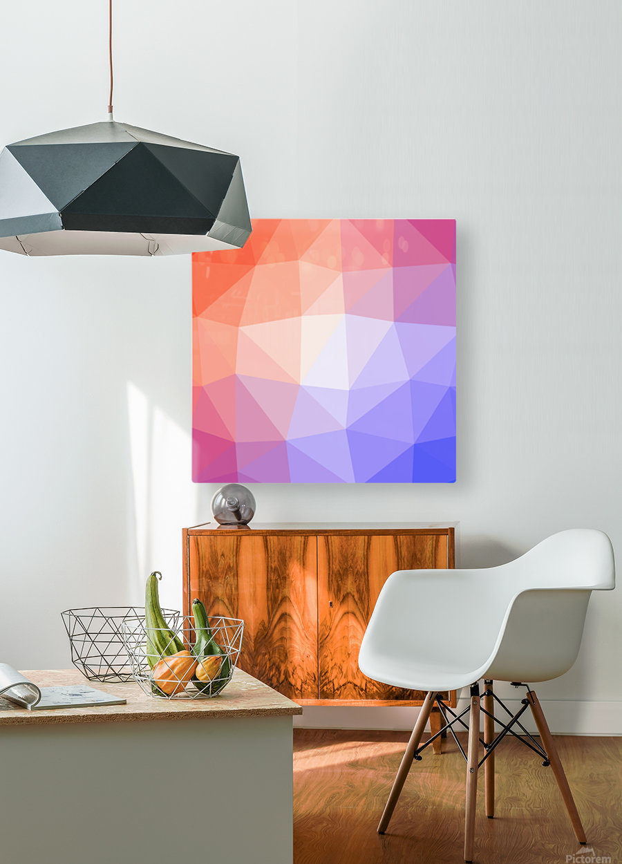 Abstract art patterns low poly polygon 3D backgrounds, textures, and vectors (10)  HD Metal print with Floating Frame on Back