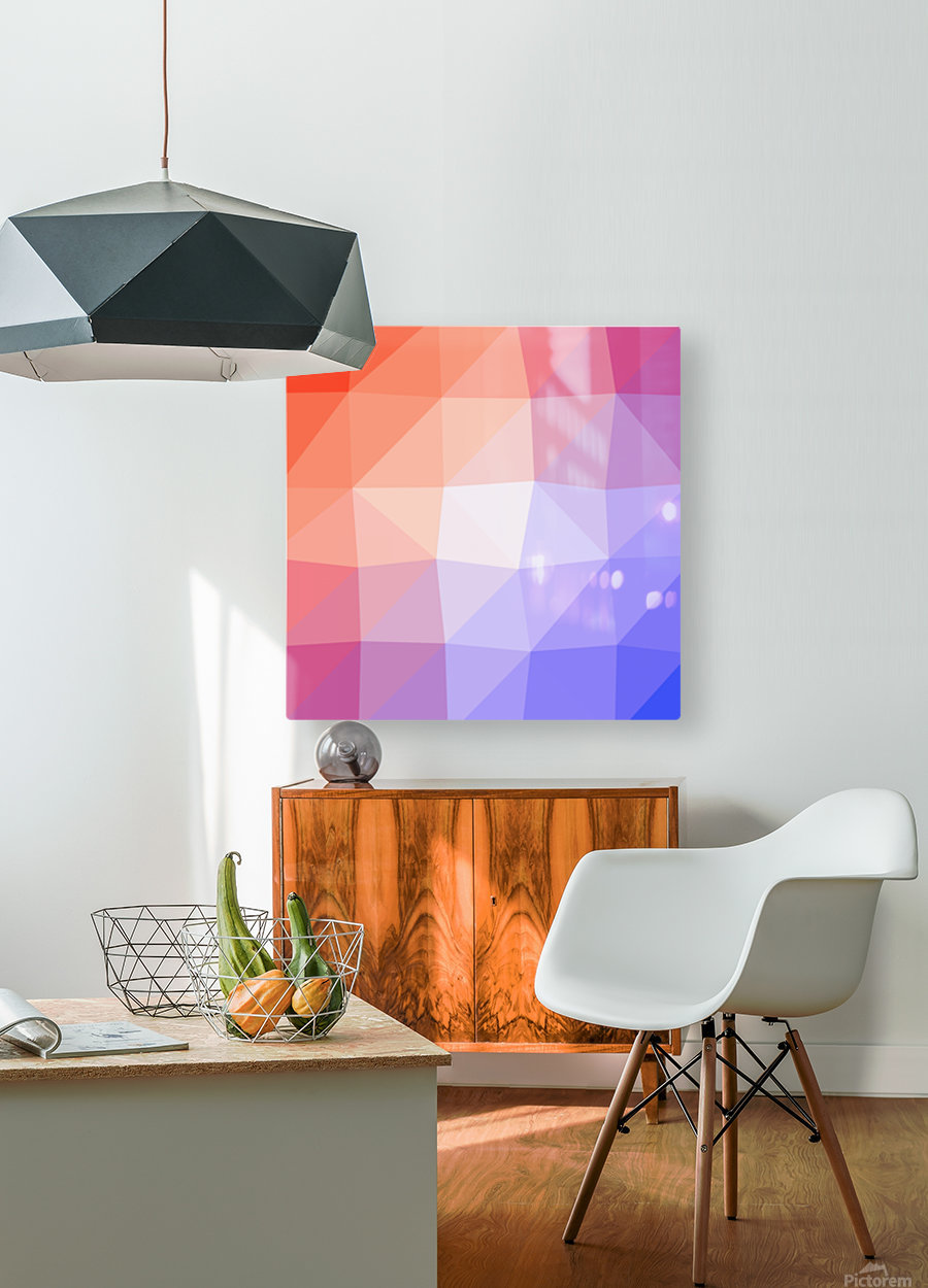 Abstract art patterns low poly polygon 3D backgrounds, textures, and vectors (3)  HD Metal print with Floating Frame on Back