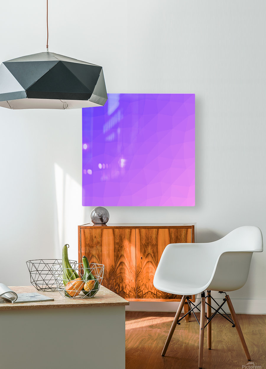 Abstract art patterns low poly polygon 3D backgrounds, textures, and vectors (15)  HD Metal print with Floating Frame on Back