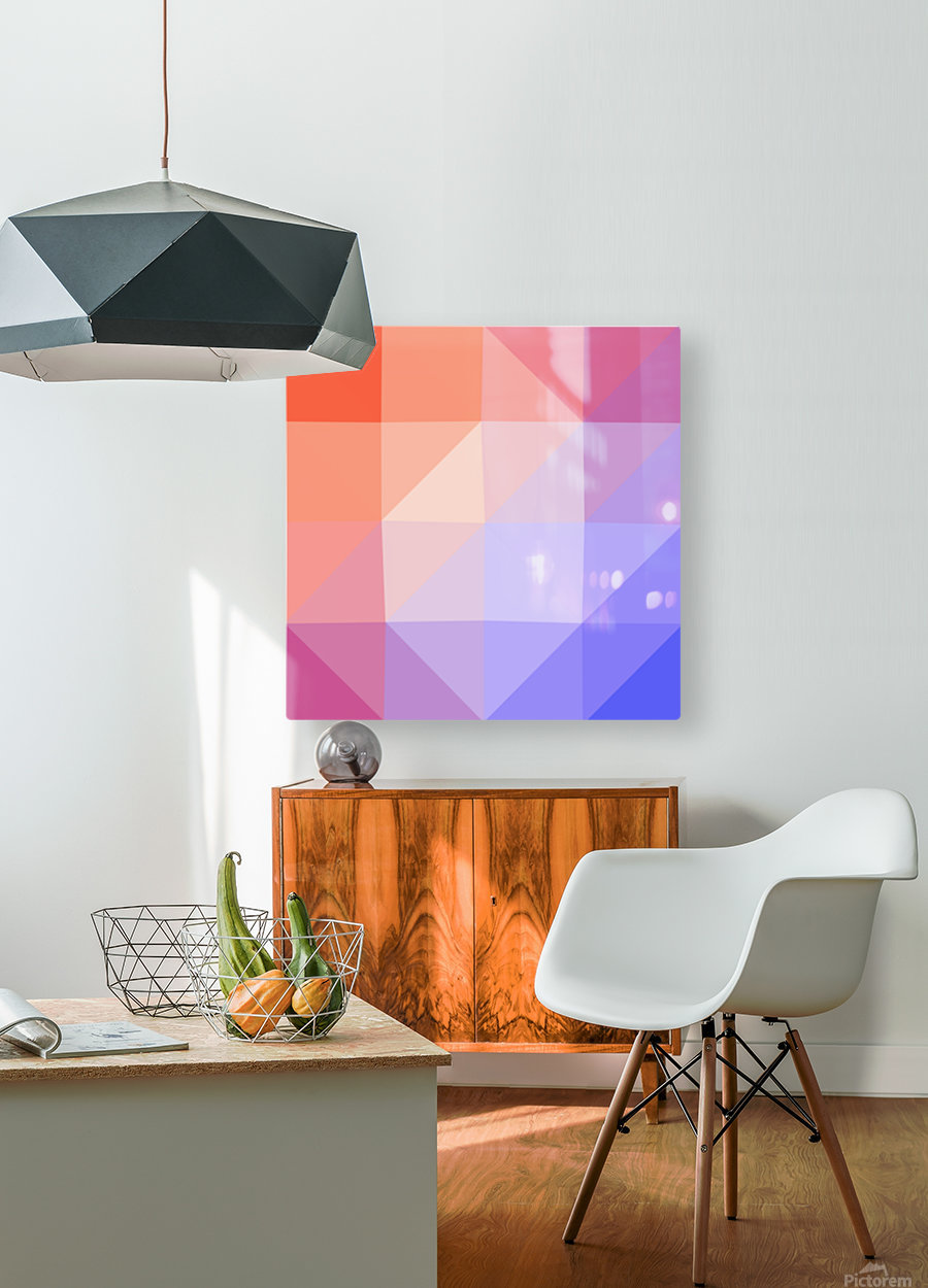 Abstract art patterns low poly polygon 3D backgrounds, textures, and vectors (13)  HD Metal print with Floating Frame on Back