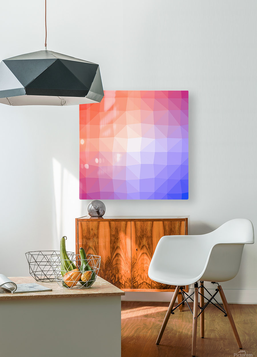 Abstract art patterns low poly polygon 3D backgrounds, textures, and vectors  HD Metal print with Floating Frame on Back