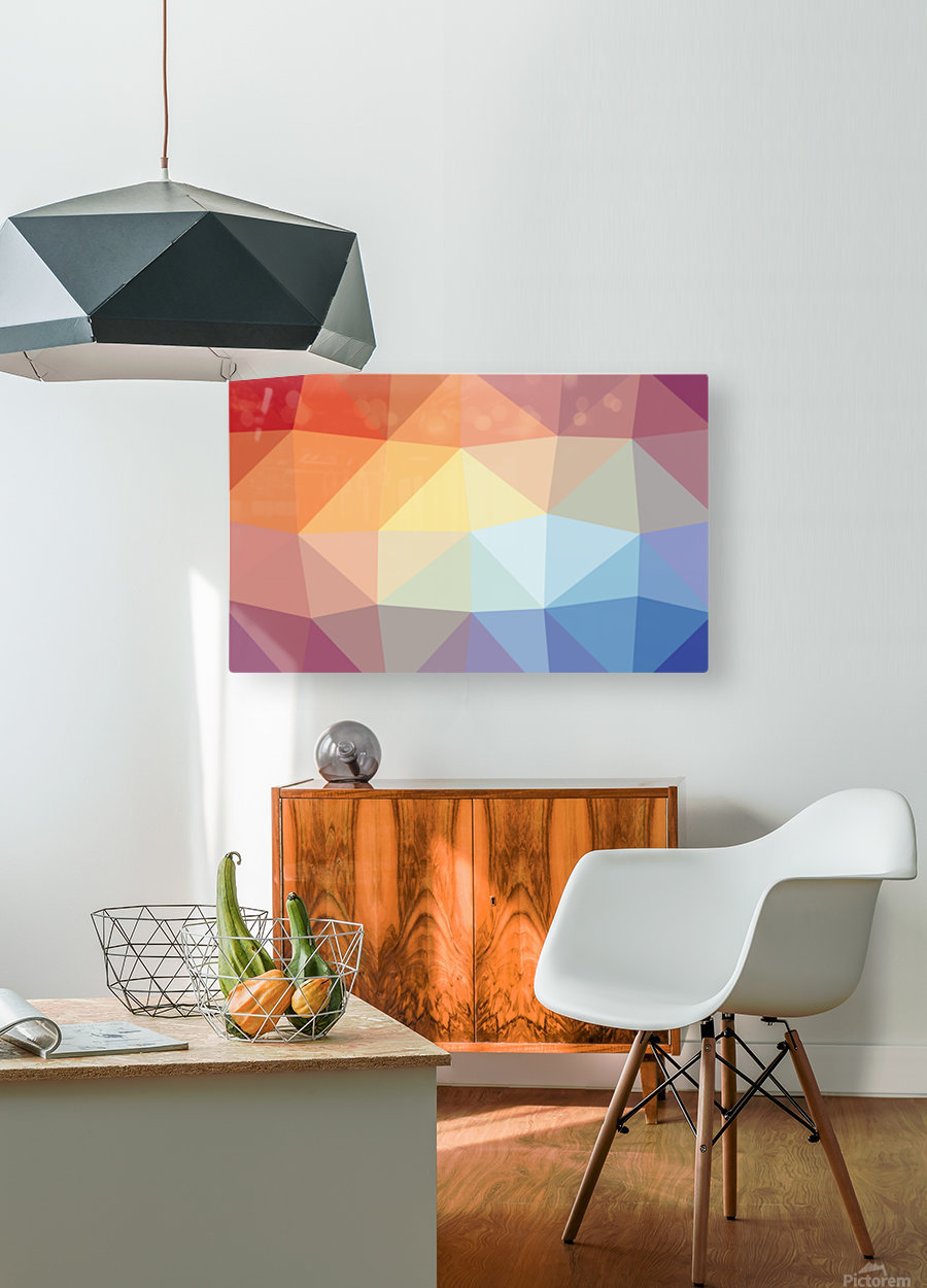 patterns polygon 3D (20)  HD Metal print with Floating Frame on Back