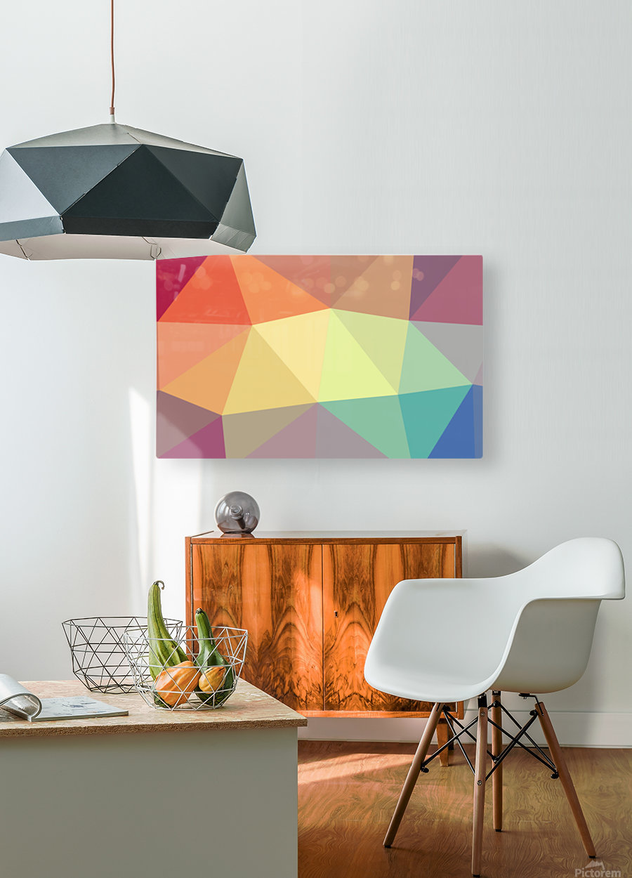 patterns polygon 3D (49)  HD Metal print with Floating Frame on Back