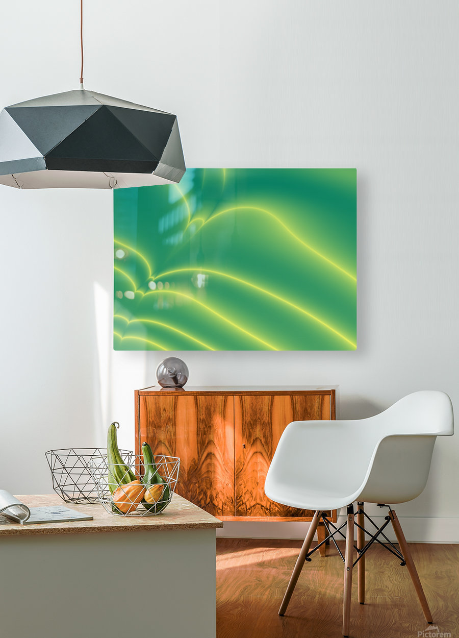 Abstract  (3)  HD Metal print with Floating Frame on Back