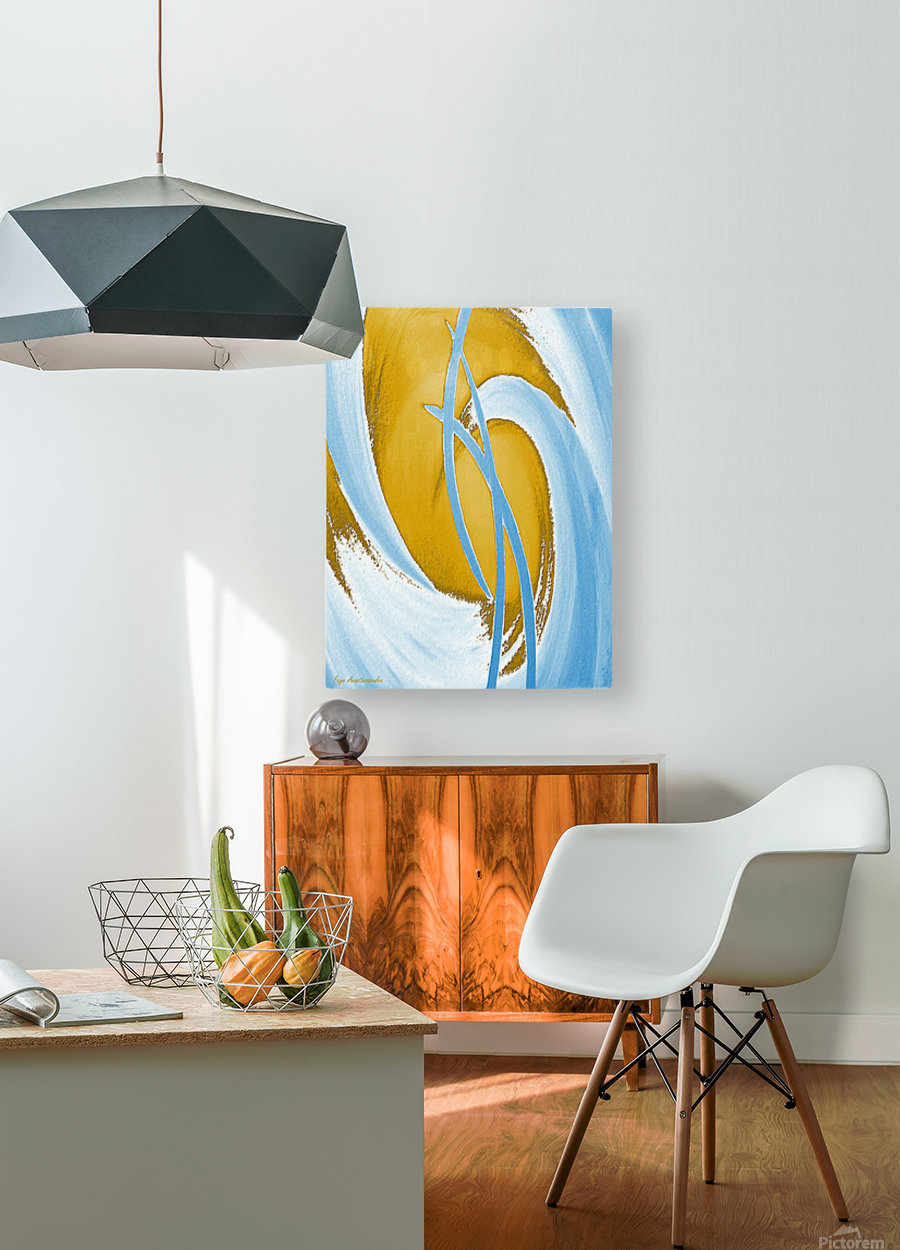 Energy Flow  HD Metal print with Floating Frame on Back