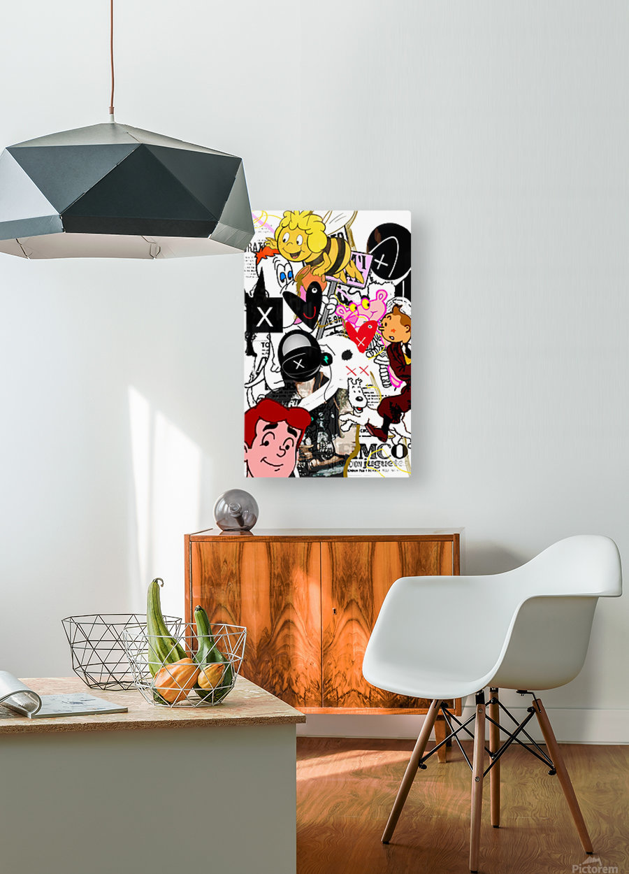 Golden Times  HD Metal print with Floating Frame on Back