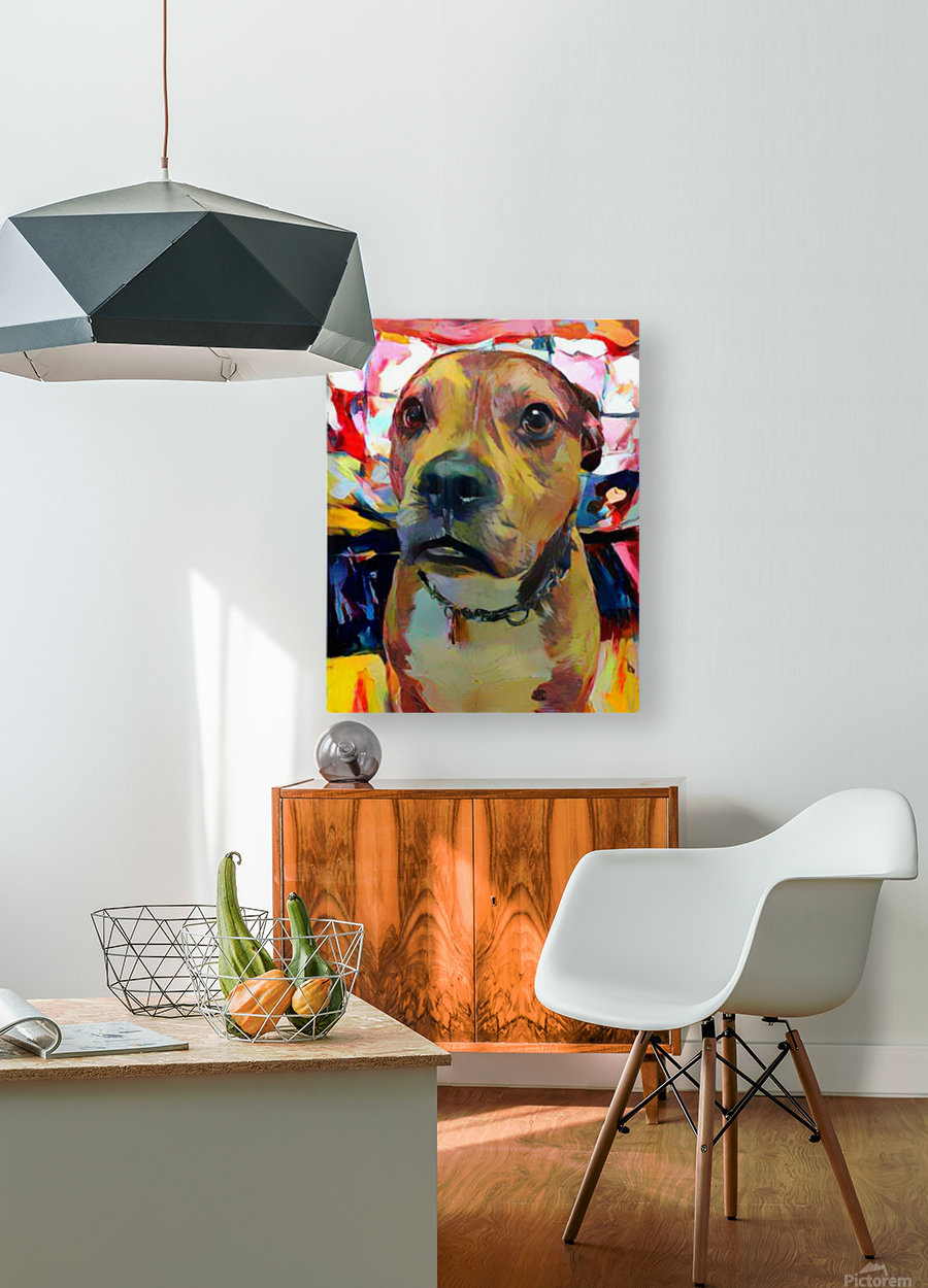 Dog Painting (5)  HD Metal print with Floating Frame on Back