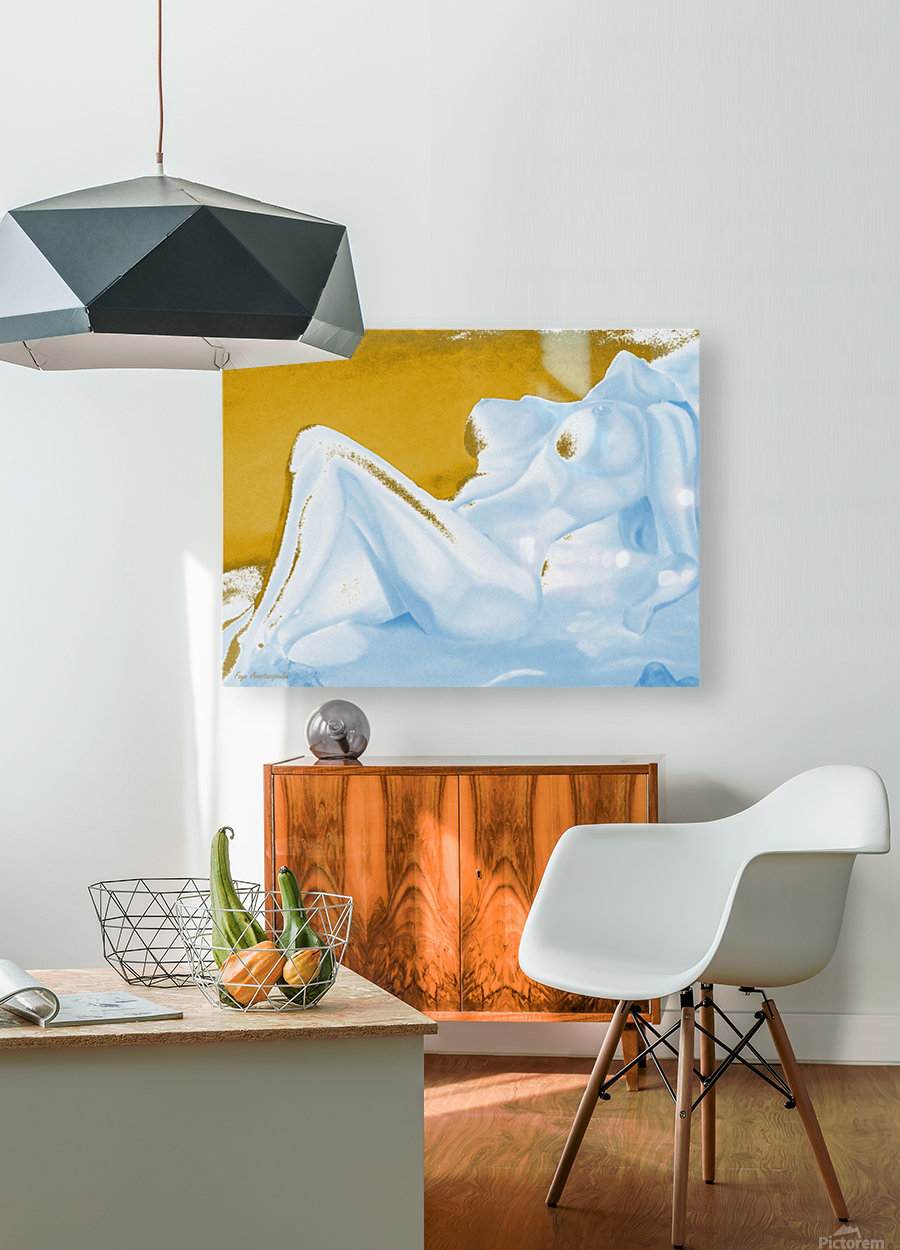 Ecstasy In Gold And Ice  HD Metal print with Floating Frame on Back