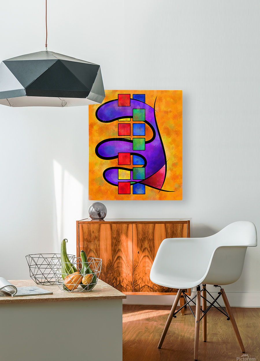 Desmelotipia - colourful cubes  HD Metal print with Floating Frame on Back