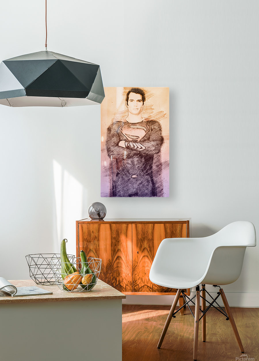 Superman  HD Metal print with Floating Frame on Back