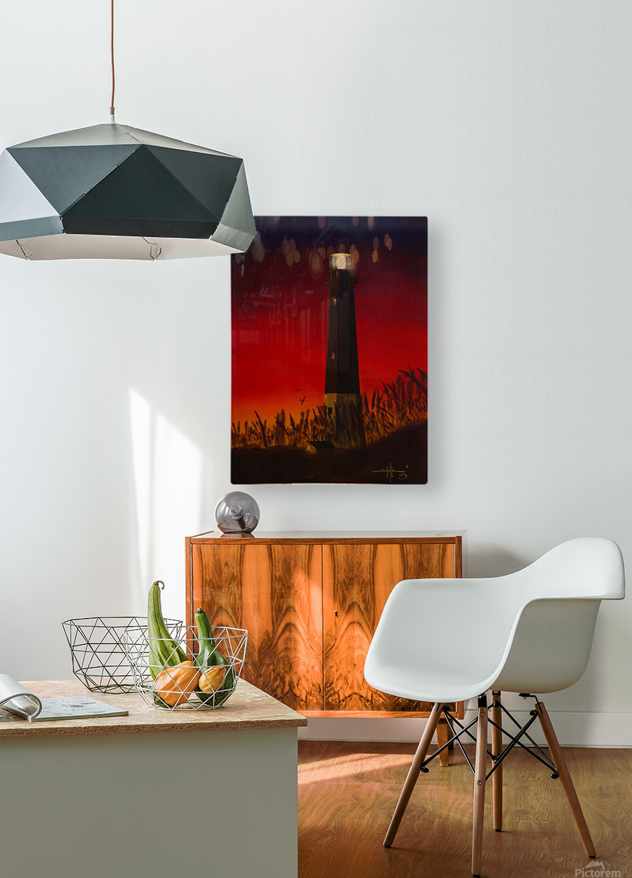 Light Too Bright  HD Metal print with Floating Frame on Back