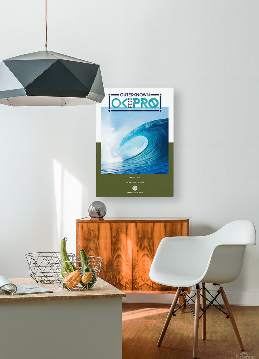 2017 OUTERKNOWN FIJI PRO Surf Competition Print  HD Metal print with Floating Frame on Back