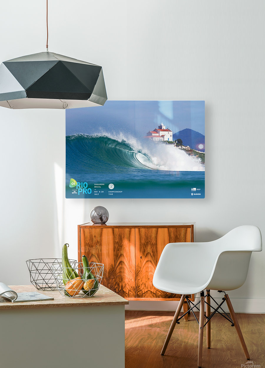 2017 RIO PRO Surf Competition Print  HD Metal print with Floating Frame on Back