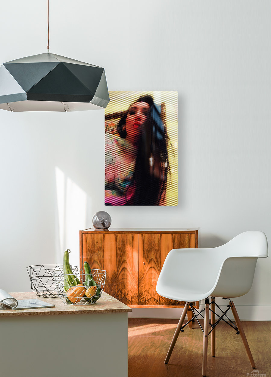 That woman with power of mind  HD Metal print with Floating Frame on Back