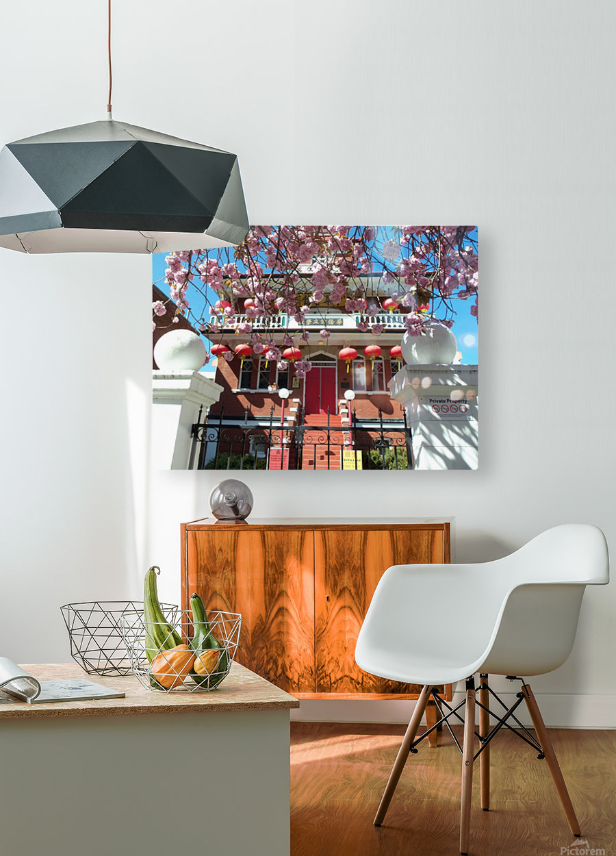 Victoria BC China town  HD Metal print with Floating Frame on Back