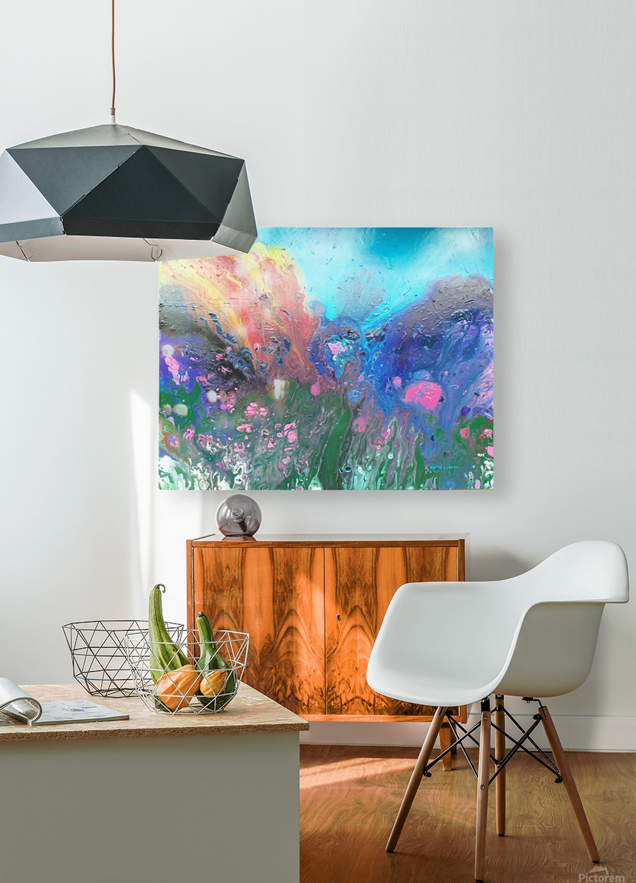 Magma   HD Metal print with Floating Frame on Back