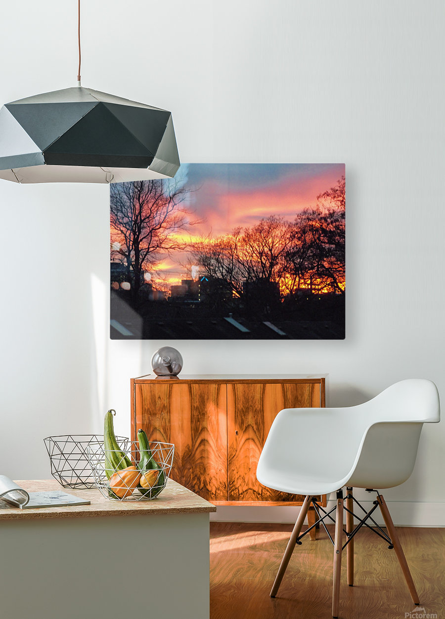 Sunset 2  HD Metal print with Floating Frame on Back