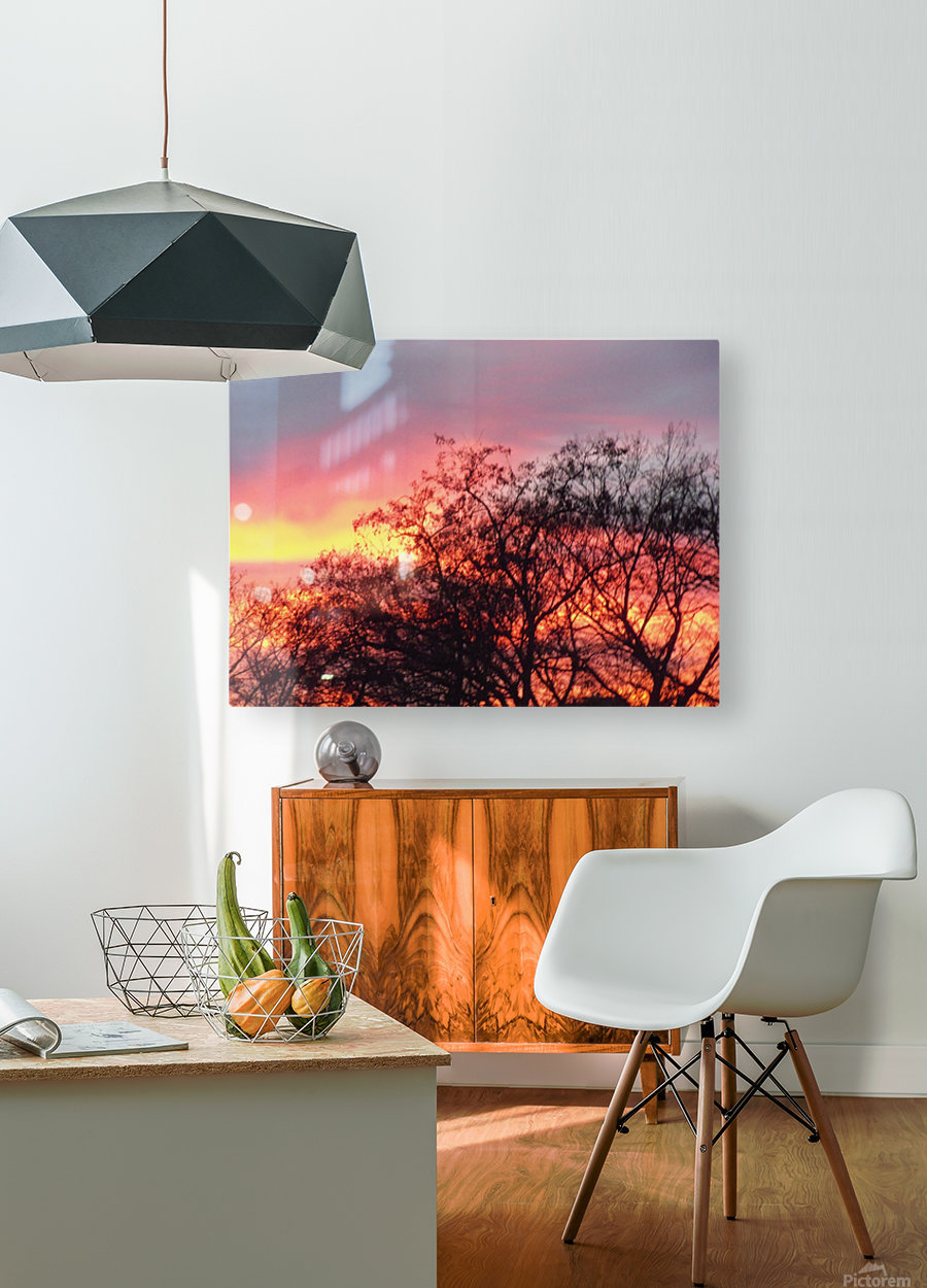 Sunset 3  HD Metal print with Floating Frame on Back