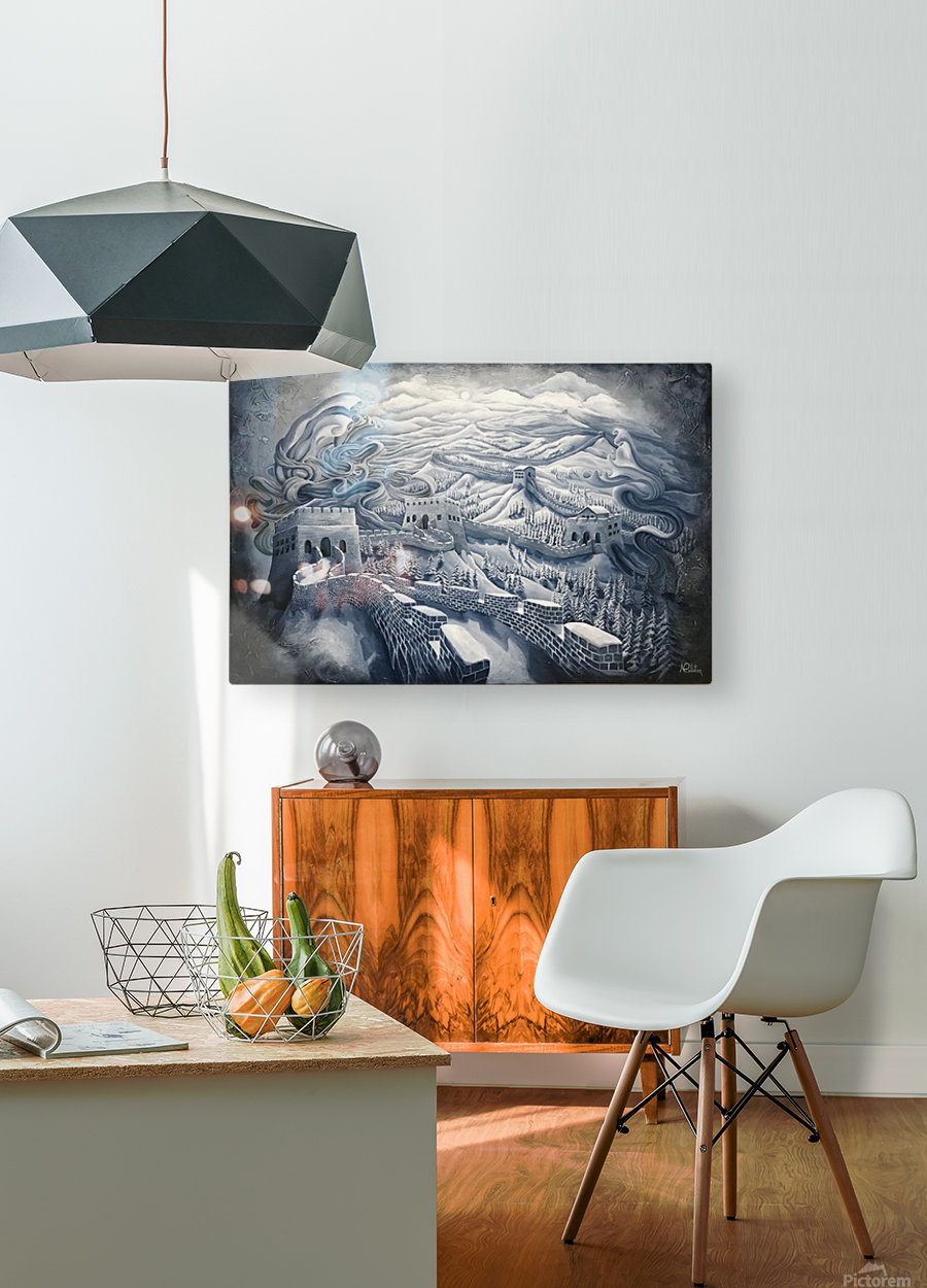 The first season of the Great Wall  HD Metal print with Floating Frame on Back