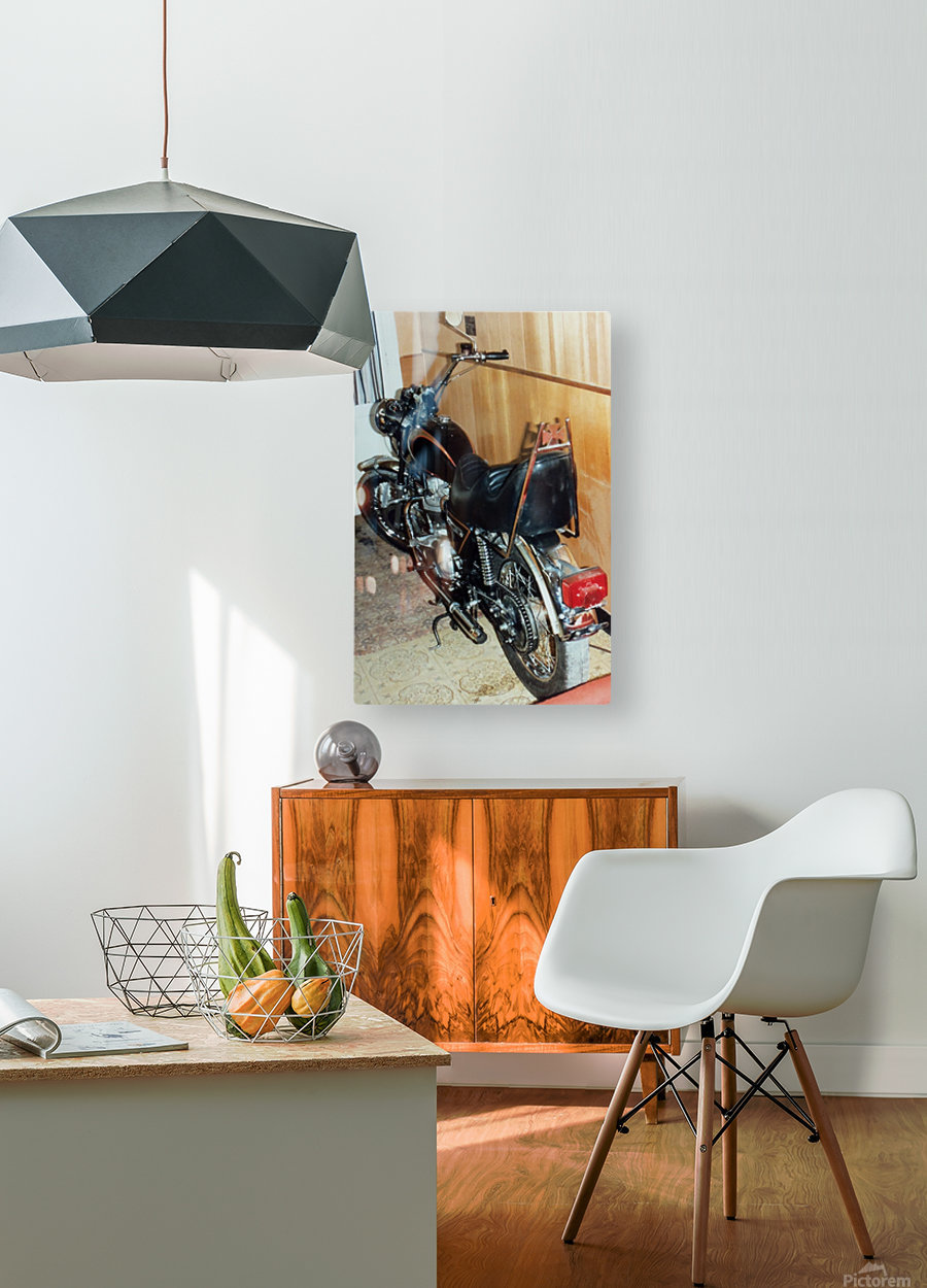 Triumph Tiger  HD Metal print with Floating Frame on Back