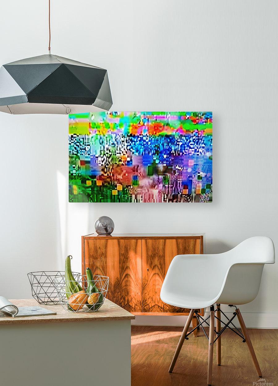Alien Landscape  HD Metal print with Floating Frame on Back