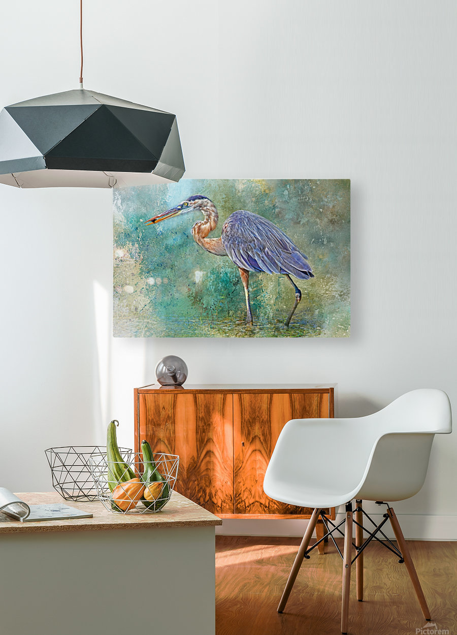 Fishing With Big Blue  HD Metal print with Floating Frame on Back