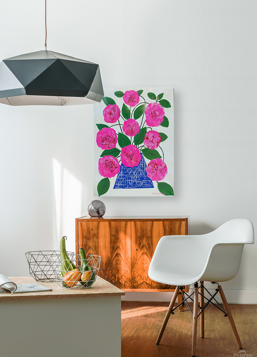 Pink flowers   HD Metal print with Floating Frame on Back