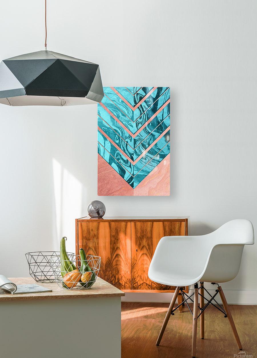 Geometric XXXXVI  HD Metal print with Floating Frame on Back