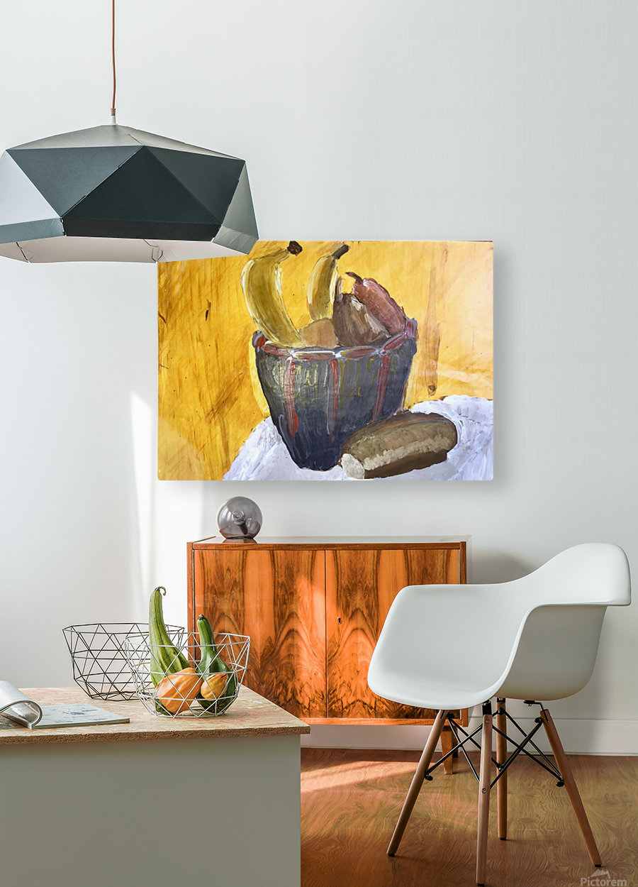 Bananas  HD Metal print with Floating Frame on Back