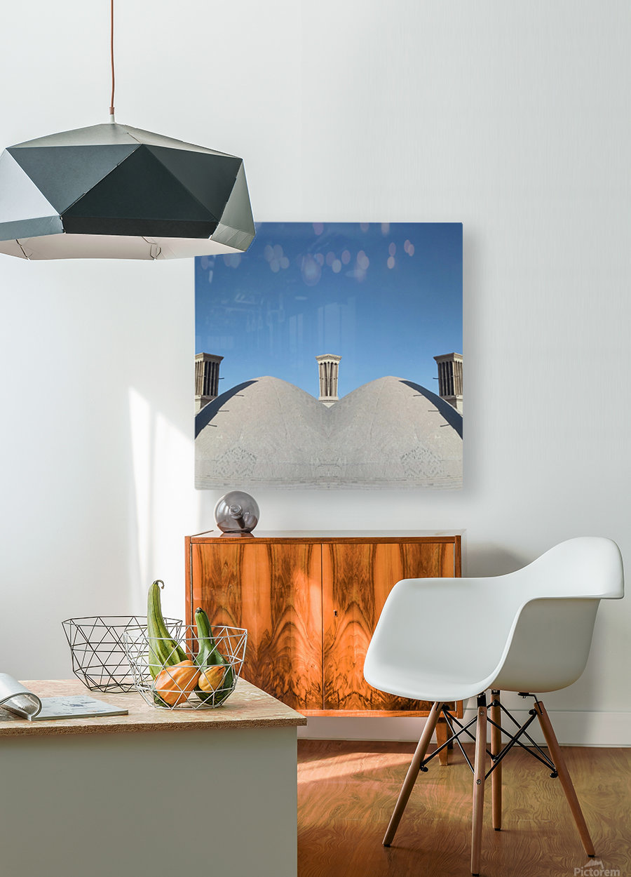 In Between  HD Metal print with Floating Frame on Back