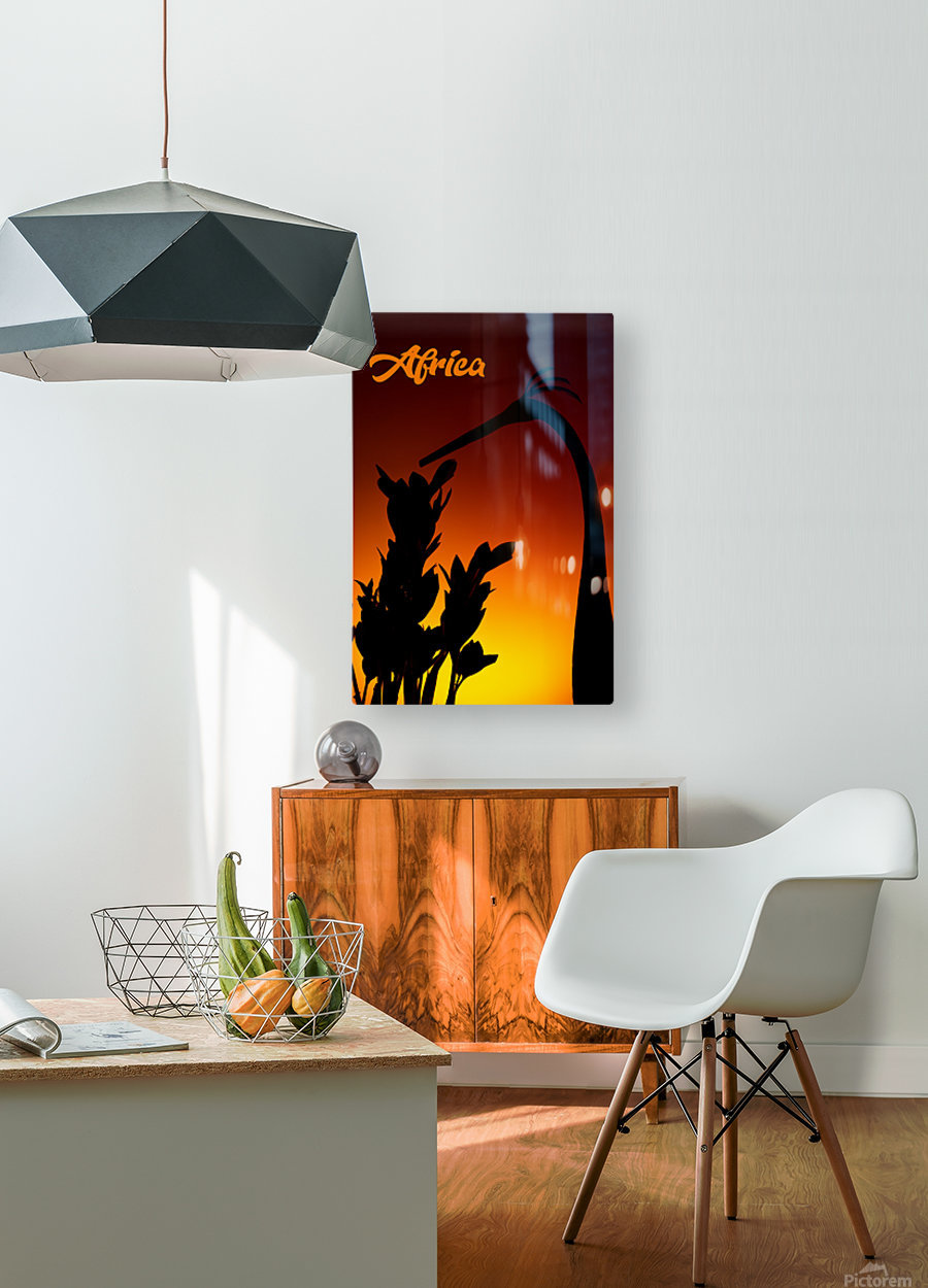 Africa sunrise  HD Metal print with Floating Frame on Back
