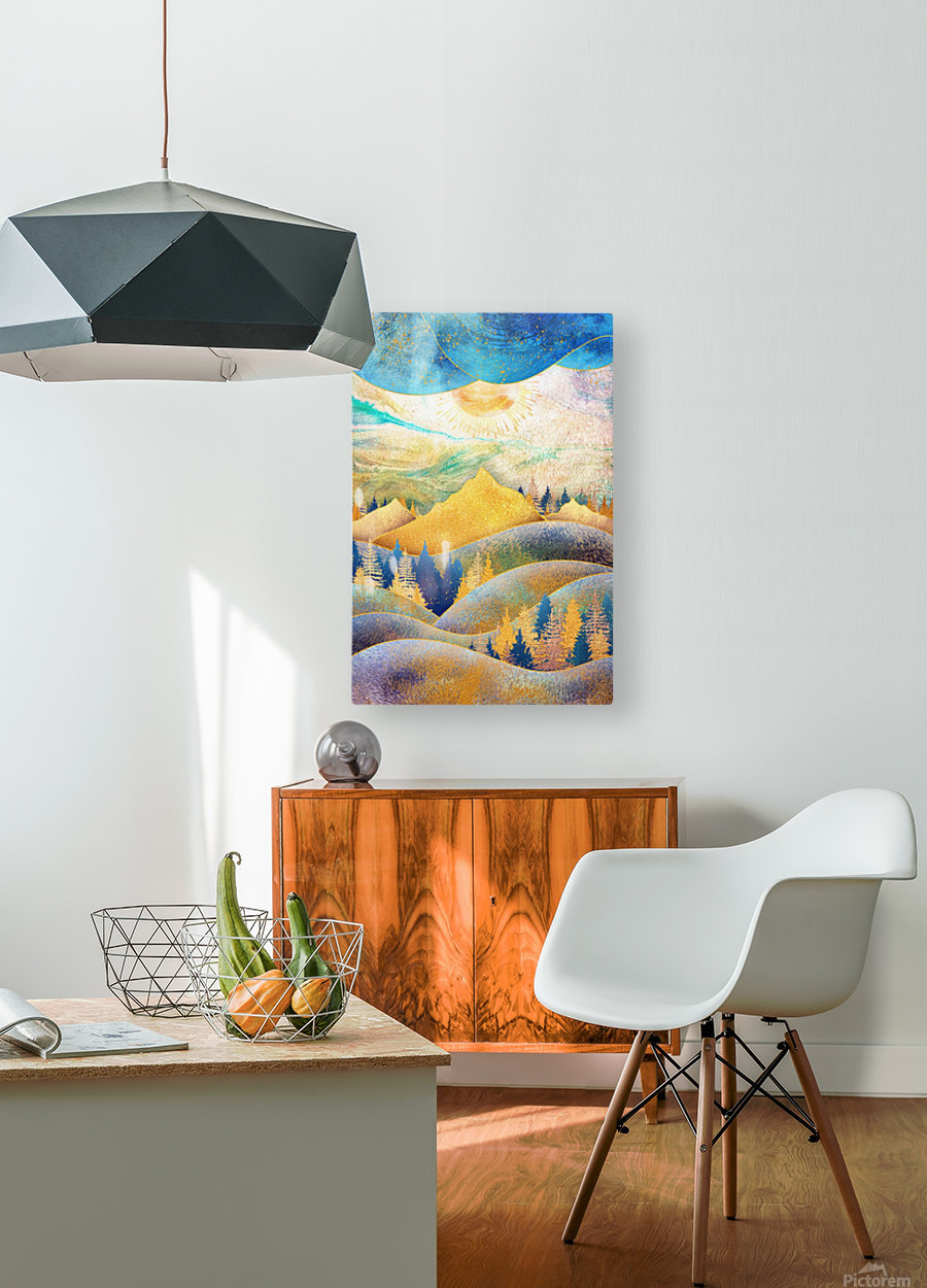 Beauty of Nature - Illustration III  HD Metal print with Floating Frame on Back