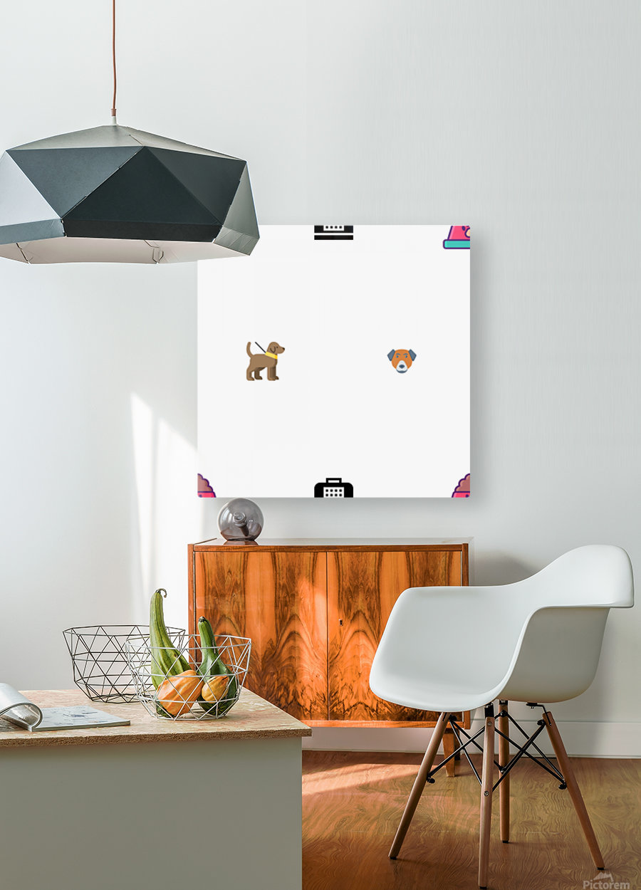 Dog (7)  HD Metal print with Floating Frame on Back