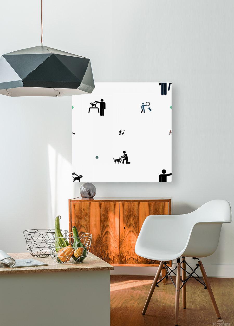 Dog (60)  HD Metal print with Floating Frame on Back