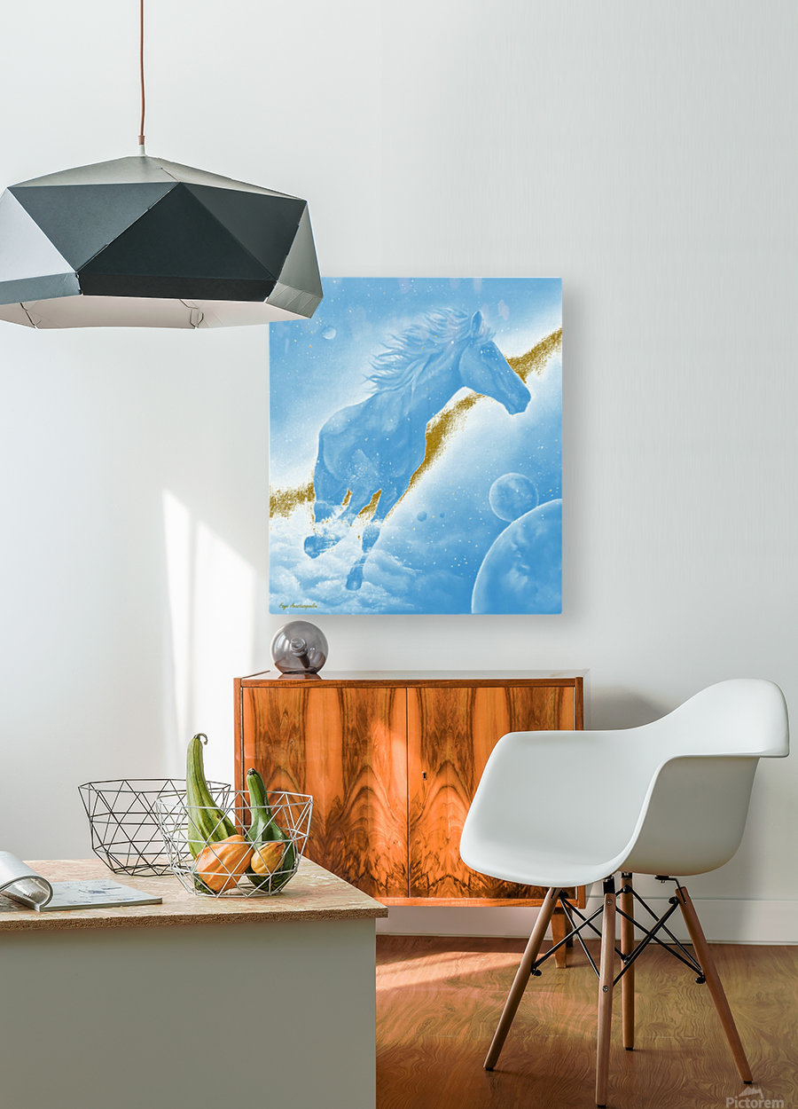 Celestial Horse  HD Metal print with Floating Frame on Back