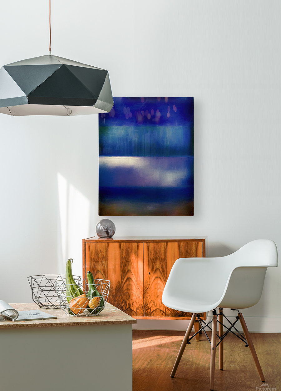 Color of the Blues  HD Metal print with Floating Frame on Back