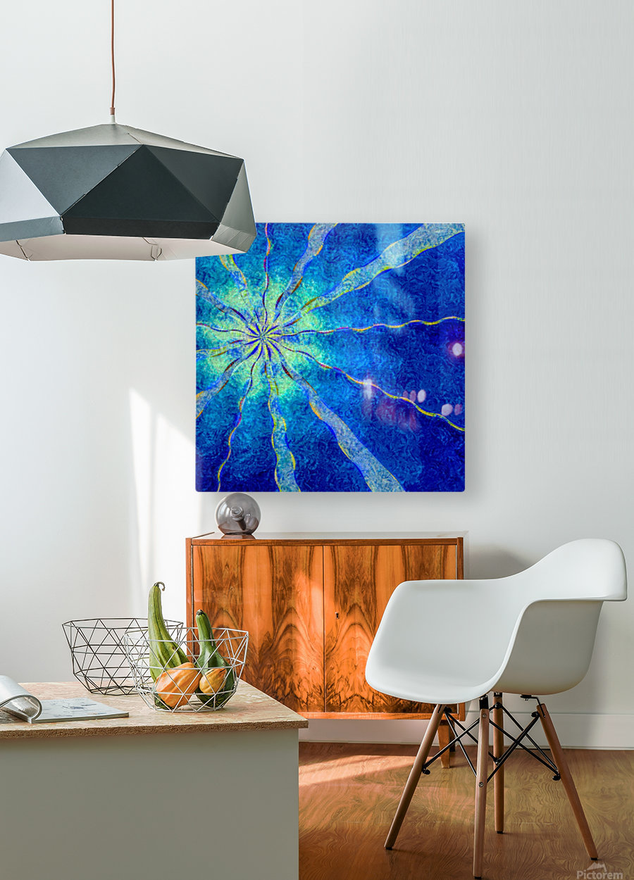 A Blue True Dream of Sky  HD Metal print with Floating Frame on Back