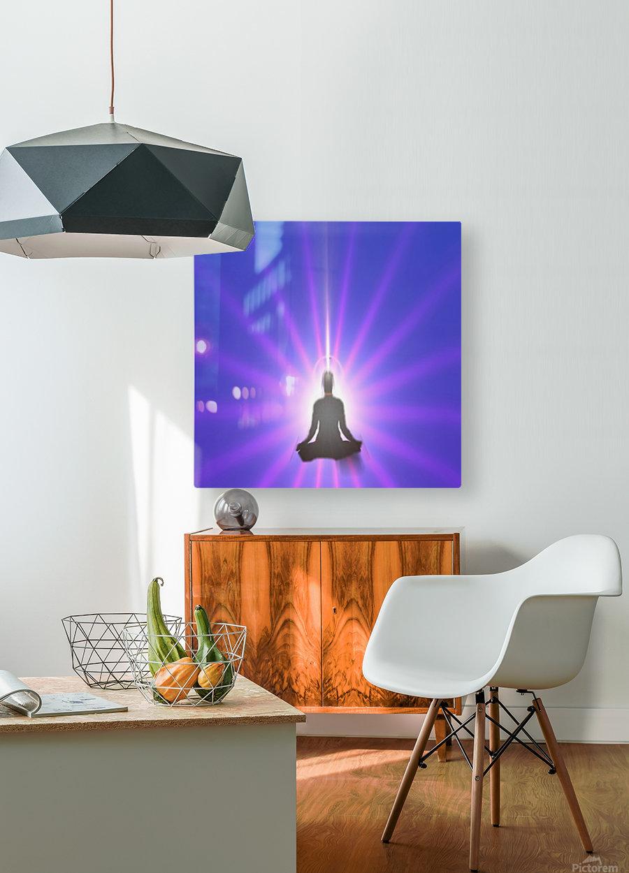 Meditation Art  HD Metal print with Floating Frame on Back