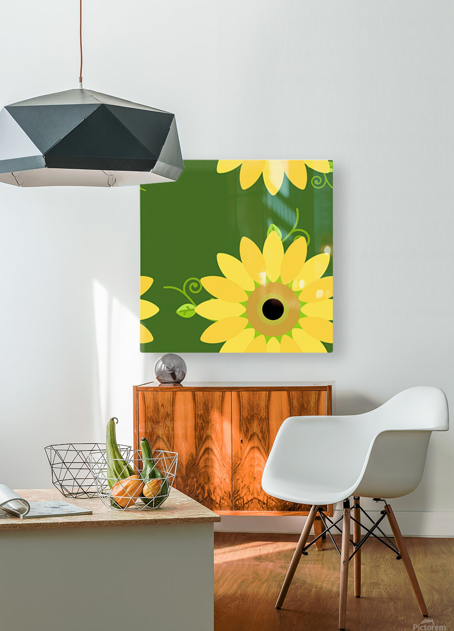 Sunflower (59)_1559876376.6225  HD Metal print with Floating Frame on Back