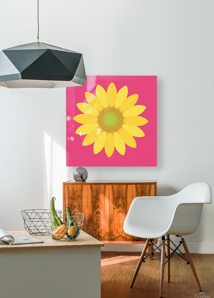 Sunflower (10)_1559876455.9347  HD Metal print with Floating Frame on Back