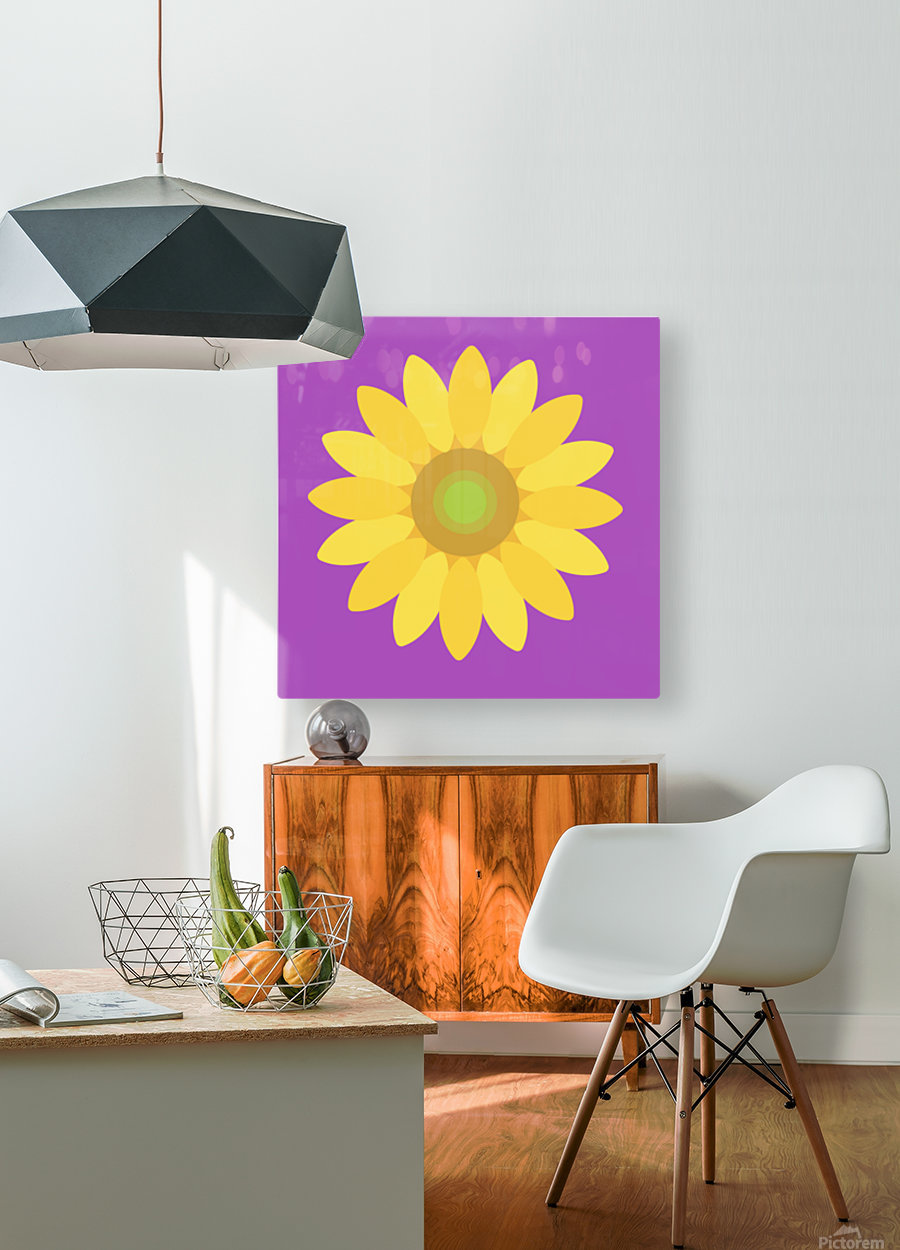 Sunflower (11)_1559876665.8187  HD Metal print with Floating Frame on Back