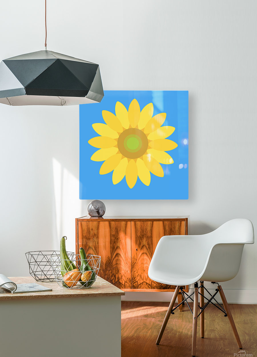 Sunflower (13)_1559876665.7609  HD Metal print with Floating Frame on Back