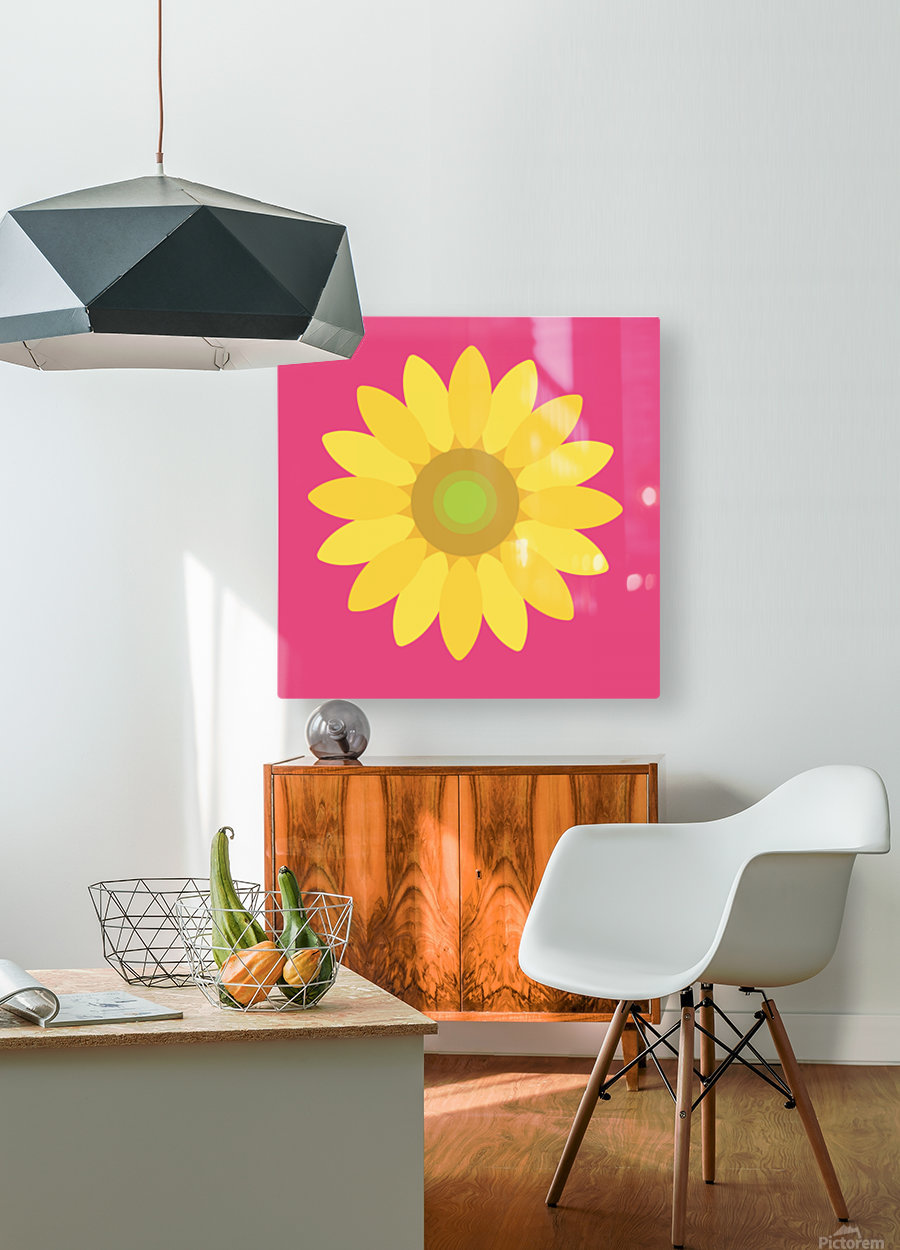 Sunflower (10)_1559876729.1568  HD Metal print with Floating Frame on Back