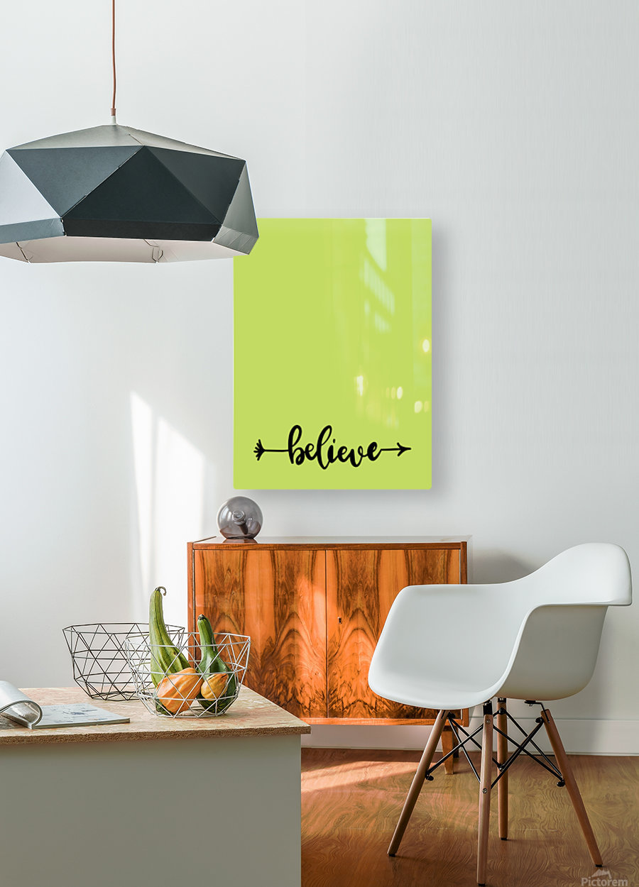 believe  HD Metal print with Floating Frame on Back