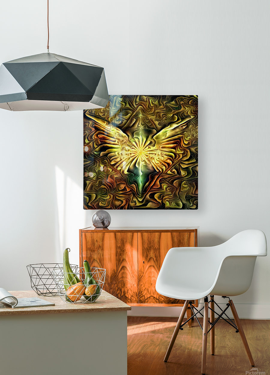 Shining Wings  HD Metal print with Floating Frame on Back