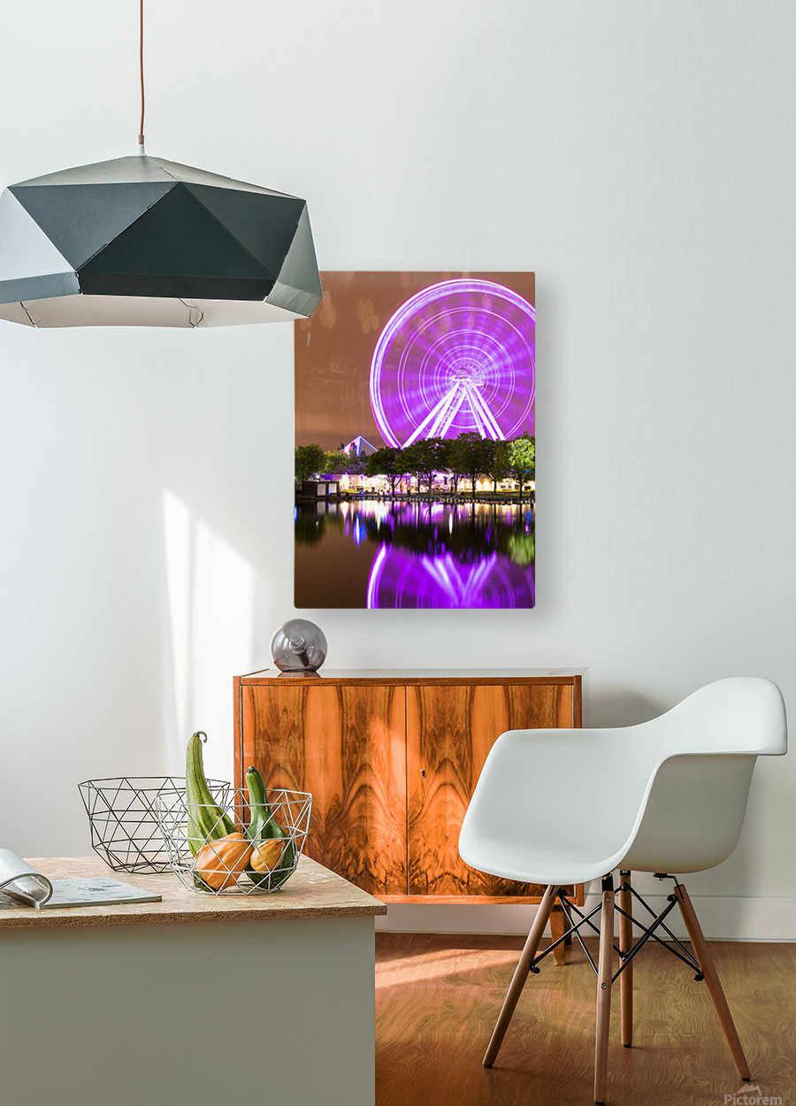 La Grande Roue de Montreal  HD Metal print with Floating Frame on Back
