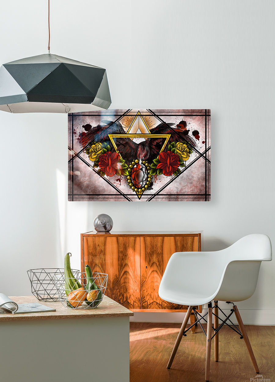 Wings of Gold   HD Metal print with Floating Frame on Back