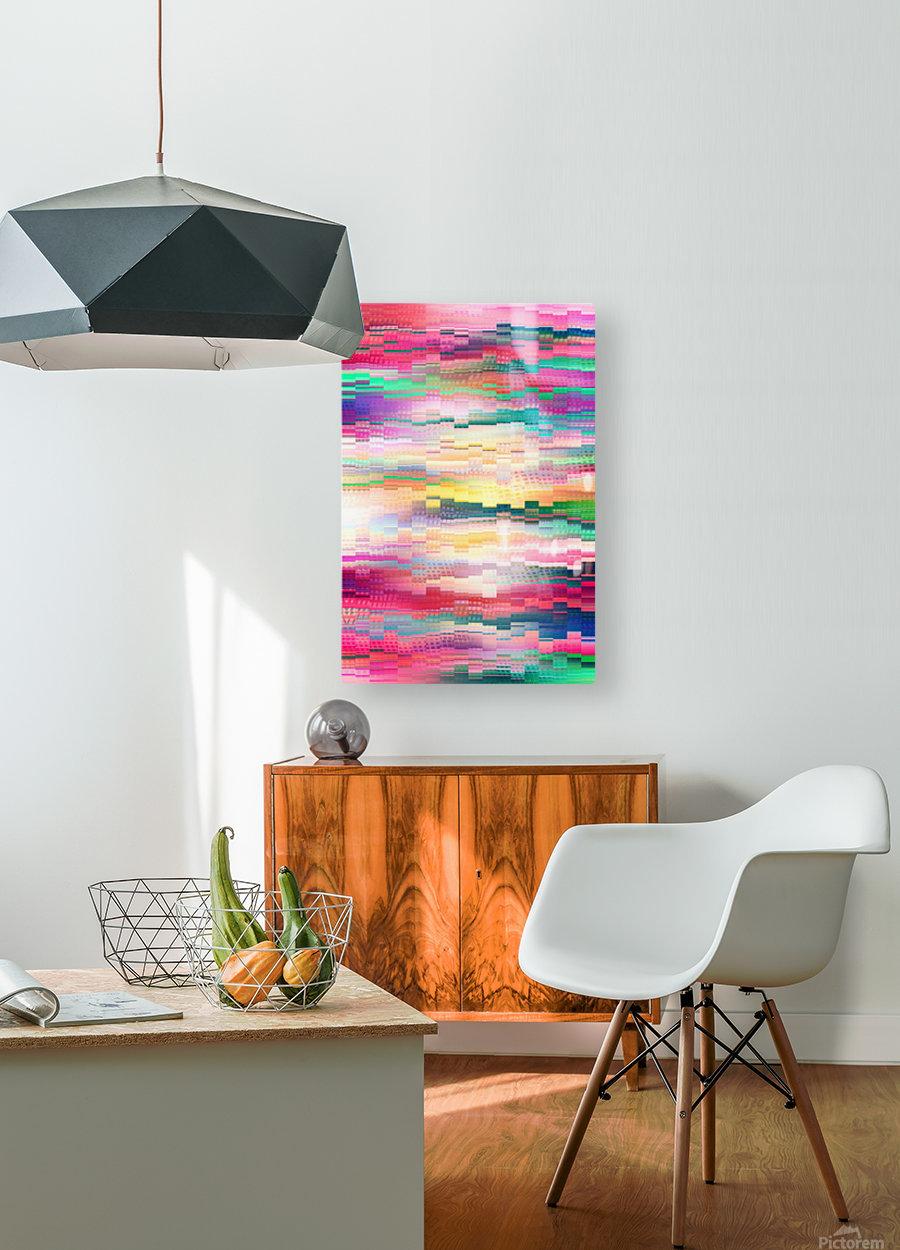 Vivid Pattern XVI  HD Metal print with Floating Frame on Back